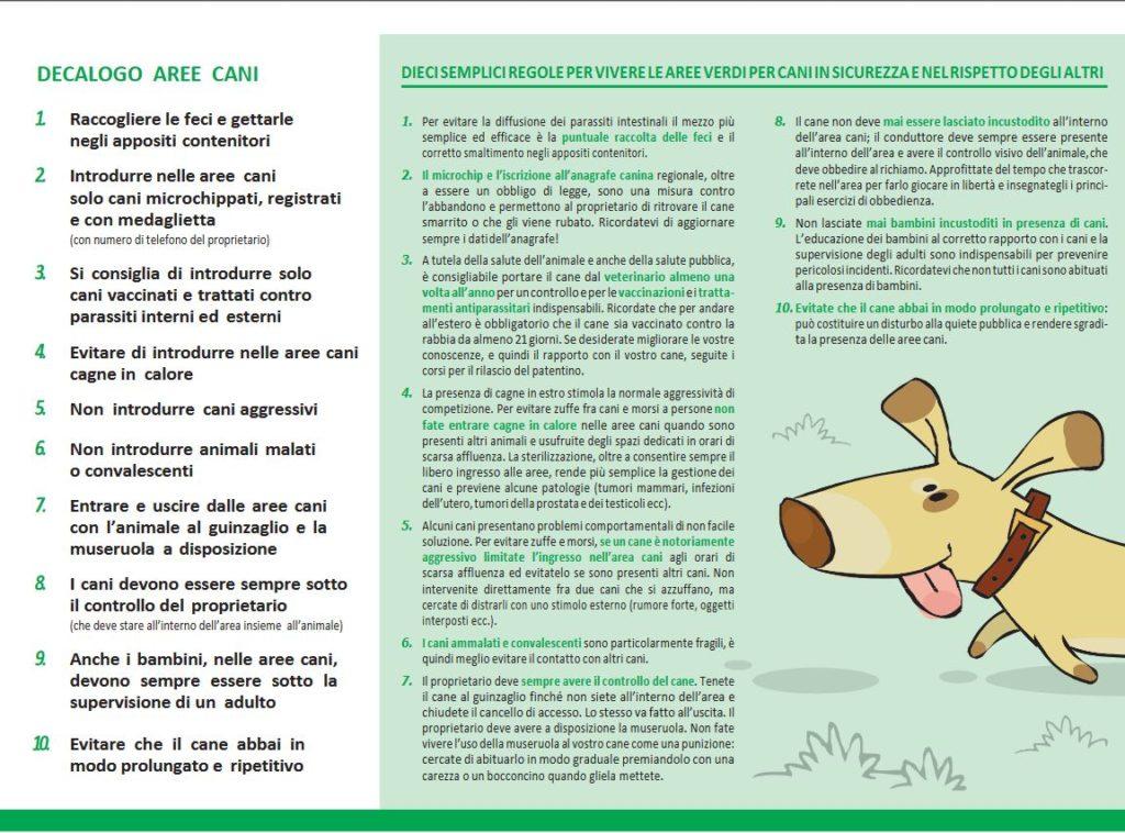 Decalogo caree cani Comune di Milano